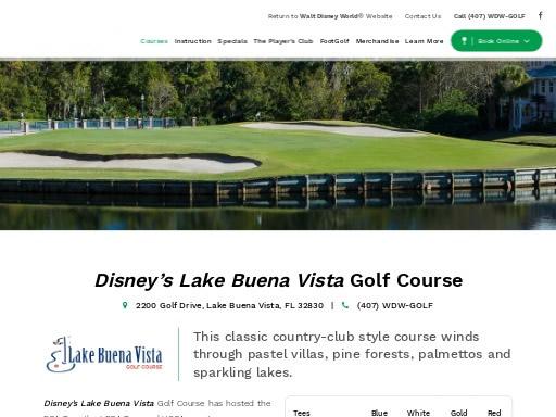 Disney-Lake-Buena-Vista-Gol- Course-FL