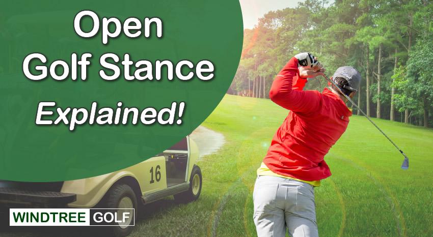 open golf stance