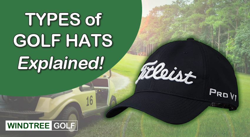types of golf hats