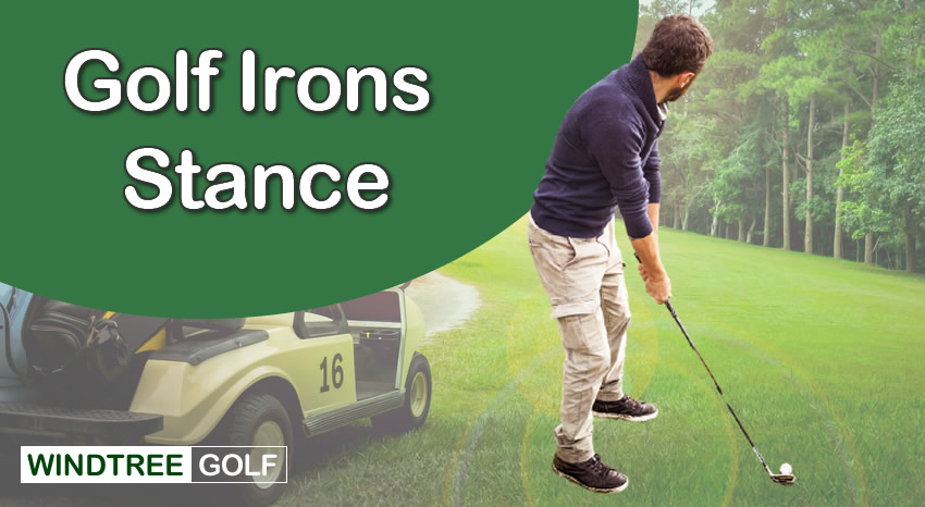 golf irons stance